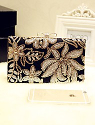 Women Evening Bag PU All Seasons Wedding Event/Party Formal Baguette Sequined Magnetic Silver Gold