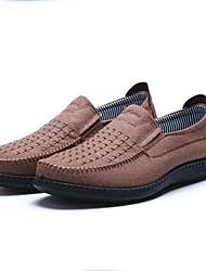 Для мужчин Мокасины и Свитер Формальная обувь Удобная обувь Ткань Весна Осень Повседневные Для прогулок Формальная обувь Удобная обувьНа