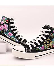 Women's Sneakers Comfort Canvas Spring Casual Comfort Screen Color Flat