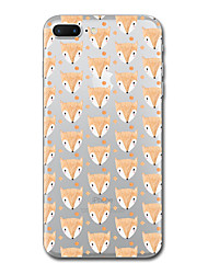 For iPhone X iPhone 8 Case Cover Transparent Pattern Back Cover Case Tile Animal Soft TPU for Apple iPhone X iPhone 8 Plus iPhone 8