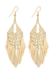 Hot Fashion Simple Elegant Plated Gold/Silver Geometry Tassel Drop Earrings For Women Dangle Long Earrings Jewelry Accessories Bijouterie