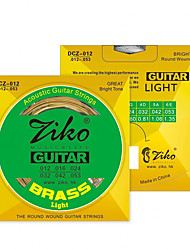 ZIKO DCZ012 Acoustic Guitar Strings  Wound Steel 6 Strings