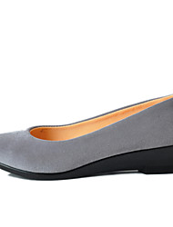 Women's Loafers & Slip-Ons Light Soles Fabric Spring/Fall Casual Low Heel Gray Black Flat
