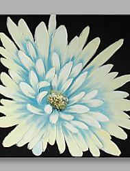 Ручная роспись Цветочные мотивы/ботаническийСовременный Цветы 1 панель Холст Hang-роспись маслом For Украшение дома