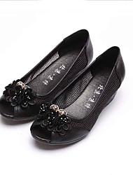 Women's Heels Formal Shoes Comfort Fabric Spring Summer Office & Career Dress Casual Chunky Heel Black 2in-2 3/4in