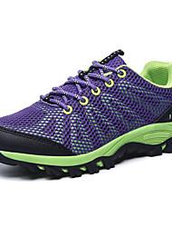 Для женщин Спортивная обувь Удобная обувь Полиуретан Весна Осень Для прогулок Шнуровка На плоской подошве Черный Лиловый ПурпурныйМенее