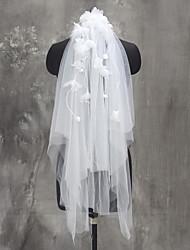 Hochzeitsschleier Zweischichtig Ellbogenlange Schleier Fingerspitzenlange Schleier Tülle