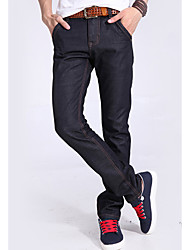 U&Shark Men's Black THICK & Thermal Casual Jean Pants Trousers for Fall Winter/YKNZ-1014