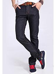 Homme simple Taille Normale non élastique Droite Chino Pantalon,Droite Couleur Pleine