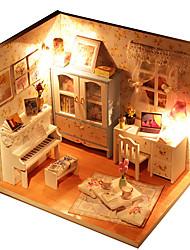Kit de Bricolage Maison de Poupées Maquette & Jeu de Construction Maison Bois Plastique Tissu