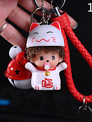 Bag / Phone / Keychain Charm Cute  Jingle Bell  Cartoon Toy Phone Strap PVC