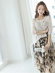 Women's Daily Dresses Summer Blouse Dress Suits,Floral Boat Neck Short Sleeve Micro-elastic