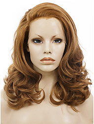 Celebritywig16''Natural Brown High Quality 150%-180% High Density Synthetic Lace Front Wigs Heat Resistant Fiber