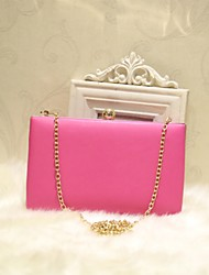 Women Shoulder Bag PU All Seasons Casual Date Baguette Magnetic Peach Fuchsia