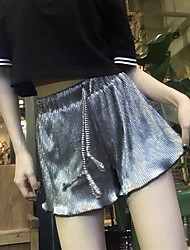 Women's High Rise strenchy Loose Shorts Pants,Simple Loose Solid
