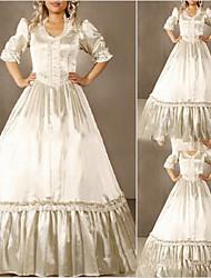 Uma-Peça/Vestidos Doce Lolita Cosplay Vestidos Lolita Vintage Concha Meia Manga Comprido Vestido Para Outro