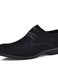 Для мужчин обувь Замша Все сезоны Классический и неустаревающий Удобная обувь Высокое качество Мода Формальная обувь Туфли на шнуровке