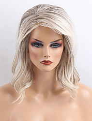 Popular  Attractive  Greyish White Curls Long Human Hair Wigs