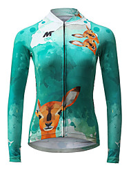 Cycling Jersey Women's Long Sleeve Bike Jersey Quick Dry Breathable Polyester Fashion Spring Summer Fall/Autumn