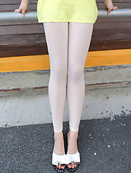 Women's Mid Rise High Elasticity Skinny Legging PantsSimple Slim Pure Color Solid Smooth