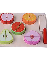 Pretend Play Toy Foods Square Wood Children's