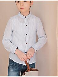 Girls' Solid Shirt,100% Cotton Summer Long Sleeve Regular