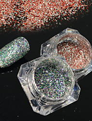 2bottles/set 0.2g/bottle Fashion Gorgeous Nail Art Platinum Glitter Power Galaxy Starry Effect DIY Shining Decoration BG01&19