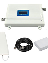 2G CDMA 850mhz Mobile Phone Signal Booster CDMA980 Repeater Signal Amplifier with Log Periodic Antenna / Panel Antenna / Cable / LCD Display / White