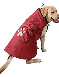 Dog Coat Sweatshirt Dog Clothes Casual/Daily Fashion Sports Solid Blue Ruby For Large Dogs