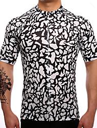 Maillot de Cyclisme Homme Manches Courtes Vélo Maillot Séchage rapide Respirable Anti-transpiration Coolmax LYCRA® Classique Eté