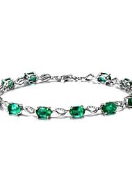 Damen Ketten- & Glieder-Armbänder Smaragd Natur Modisch Modeschmuck Smaragdfarben Aleación Kreisform Schmuck Für Hochzeit Party