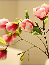 33inch Large Size 1 Branch 7 Heads Silk Magnolia Artificial Flowers
