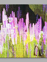 Ручная роспись Цветочные мотивы/ботанический Современный Художественный Цветы Абстракция 1 панель Холст С картинкой For Украшение дома