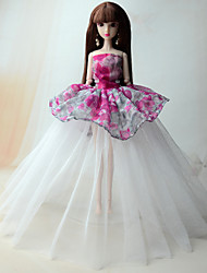 Princess Dress For Barbie Doll Dress For Girl's Doll Toy