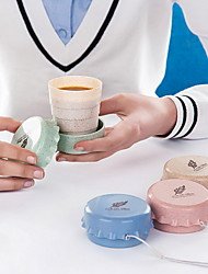 Wheat Straw Portable Water Cups Breast Cup Creativity Men & Women Environmental Travel Cup Compression Cup Home Folding Cup