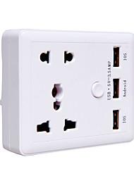 Steckdose 3 USB-Anschlüsse 2 Outlets Steckdose 10a 140V eu Stecker