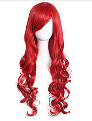 Cosplay Wig Long Curly Red With Bang Costume Capless Wigs Halloween Cosplay Wigs