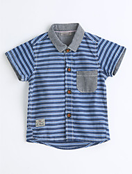 Boys' Striped Shirt,Cotton Summer Short Sleeve