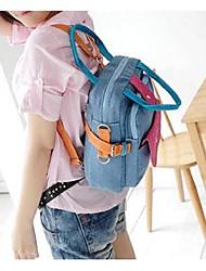 Feminino Bolsa de Ombro Lona Todas as Estações benzóico Hobo Metálico zíper Preto Rosa Azul Claro