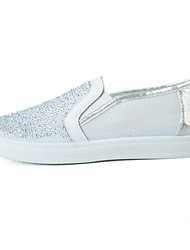 Для женщин Мокасины и Свитер Мокасины Удобная обувь Тюль Микроволокно Демисезонный Лето Повседневные Для прогулок Мокасины Удобная обувь