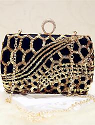 Damen Taschen Ganzjährig Seide Abendtasche mit Pailletten für Veranstaltung / Fest Party & Festivität Klub Schwarz