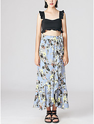 Women's Casual/Daily Knee-length Skirts A Line Floral Summer
