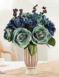1 шт. 1 Филиал Шелк Розы Букеты на стол Искусственные Цветы
