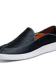 Men's Loafers & Slip-Ons Comfort Microfibre Spring Summer Wedding Outdoor Party & Evening Flat Heel Khaki Navy Blue Yellow Black Flat