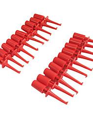 Grapadoras plásticas del clip del gancho de la prueba del multímetro para pcb smd ic (20pcs)