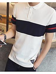 Tee-shirt Homme,Rayé simple Eté Manches Courtes Col en V Autres