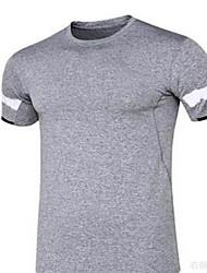 Men's Short Sleeves Running T-shirt Breathable Summer Sports Wear Running Polyester Loose