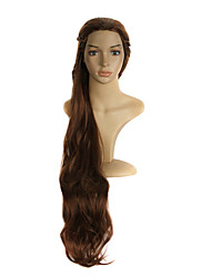 Mujer Pelucas sintéticas Sin Tapa Largo Ondulado Naranja Peluca de cosplay Las pelucas del traje