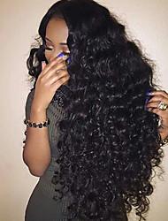 Pelucas llenas rizadas grandes del pelo humano del cordón de la venta caliente con el pelo del bebé pelucas llenas del cordón del glueless