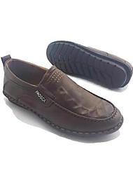 Для мужчин Мокасины и Свитер Удобная обувь Формальная обувь Ткань Весна Осень Повседневные Для прогулок Удобная обувь Формальная обувьНа